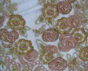 Fancy Dress Making Machine Embroidery Fabric With
