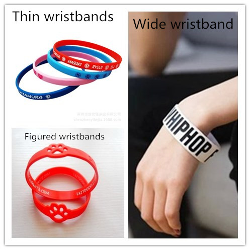Wearing guides for silicone wristbands