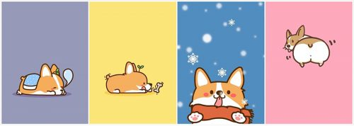 corgis cartoon