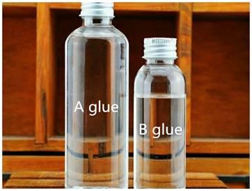 Glue A and Glue B