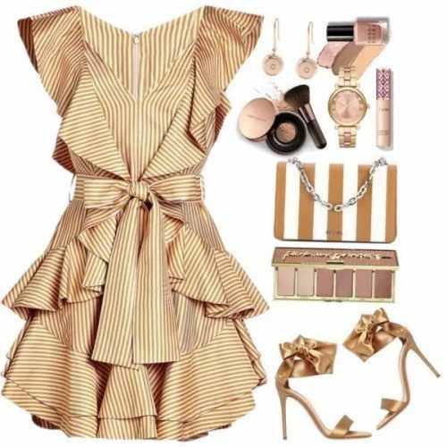 Gold clothing