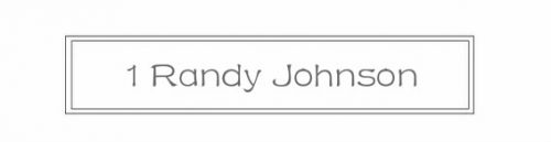 1 Randy Johnson