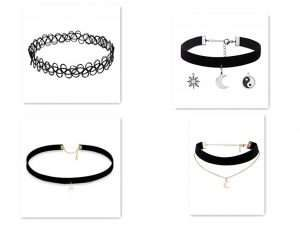 Fashionable chokers can match your clothes in a special way