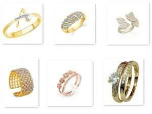 Different types of fingerrings