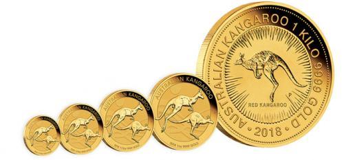 Gold Kangaroo challenge coins