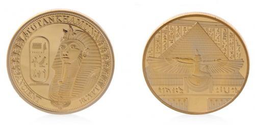 Golden Tutankhamun Challenge Coins