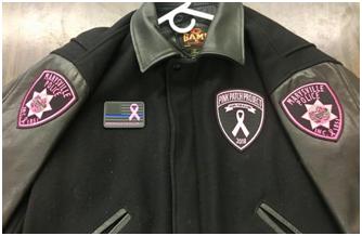 PVC badges on jacket