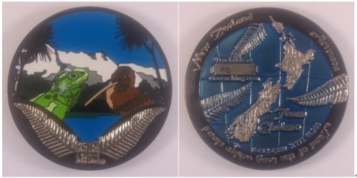 New Zealand Geocoins 3D challenge coins
