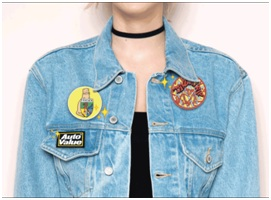 PVC Patches on Jacket