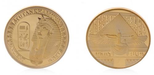 Golden Tutankhamun Commemorative Challenge Coins