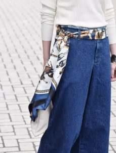Silk Scarve as Belt