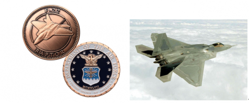 F-22 Raptor Military Coins