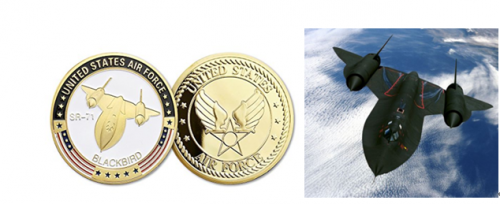 SR-71 Blackbird Air Force Challenge Coins