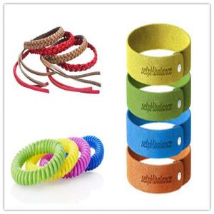 Different types of mosquito repellent wristbands