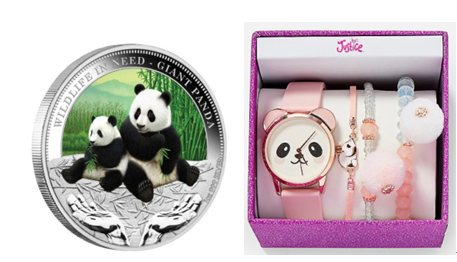 Giant Panda Custom Silver Coins