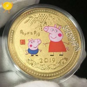 Peppa Pig Challenge Coins with exquisite and lovely appearance