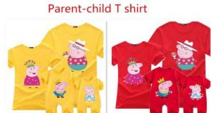 Peppa Pig Clothing.Parent-child T-shirt