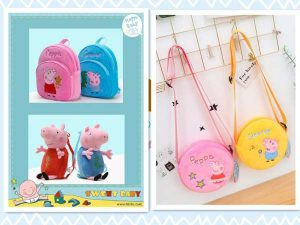 Different types of Peppa Pig Downy Bag