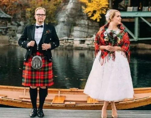 Wedding dress--Scotland