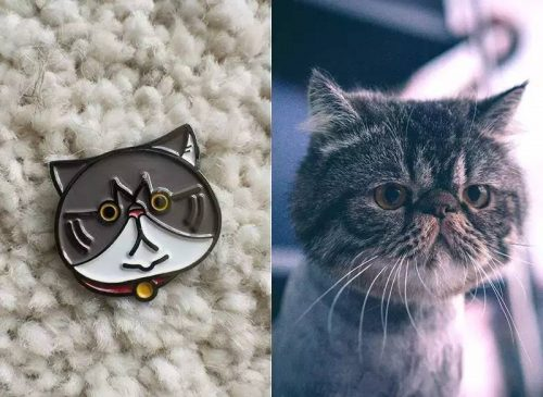 Cat And Cat Pins