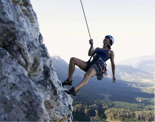 Extreme sports as climbing