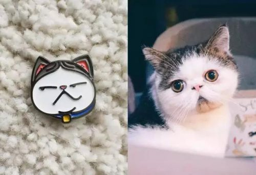 Cat And Cat Pins