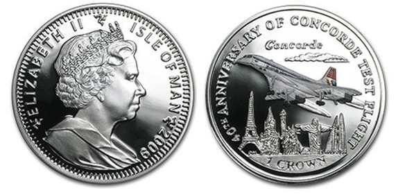 Concorde Custom Silver Coins