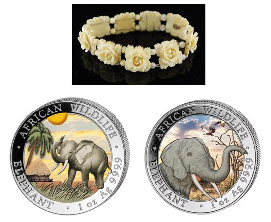 Custom Silver Elephant Coins