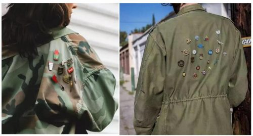 Pins On The Coat Back