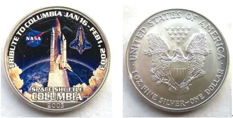 Space Shuttle Columbia Challenge Coins