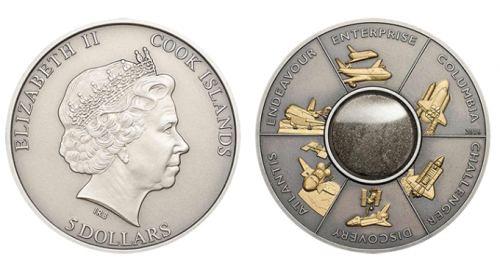 Space Shuttle Custom Antiqued-Silver Coins