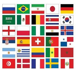 Different Countries Flag Sticker Sheet