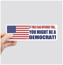 American Bumper Flag Stickers