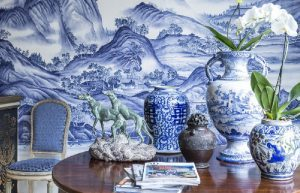 Various Blue-and-White Porcelain decorations in daily life