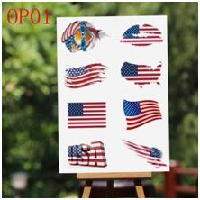 American Tattoo Flag Stickers