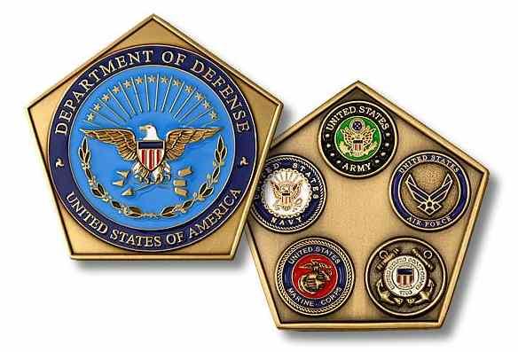 Custom Pentagon-Shaped Coins
