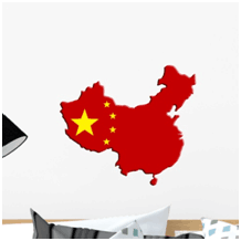 China Flag Die Cut Wall Stickers