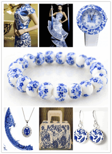 Blue-and-White Porcelain Patterns Used in Other Fields
