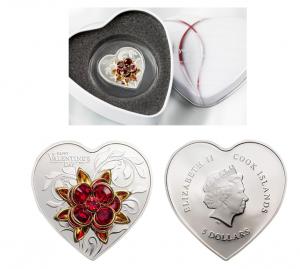 Valentine's Day Custom Silver Coins