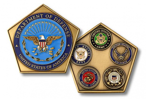 Custom Pentagon-Shaped Coins