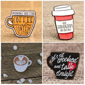 coffee lapel pins