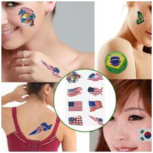 American Tattoo Flag Stickers on faces