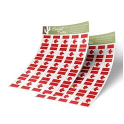 Canada Flag Sticker Sheet