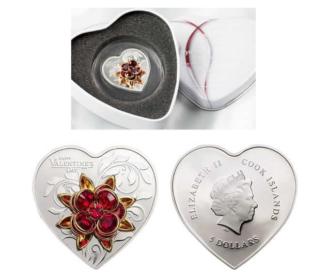 Valentine's Day Custom Silver Coins