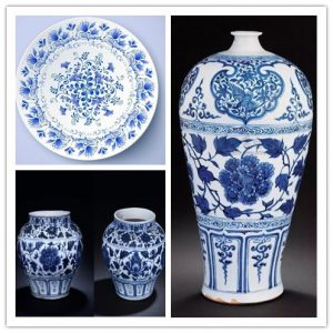 Blue-and-White Porcelain for displaying