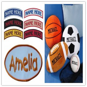 Personalized balls with kids's name