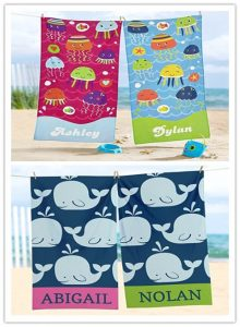Joyful Beach Towel with kid's name