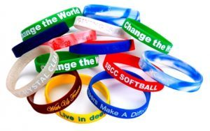 Silicone wristbands for charity events