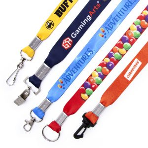 Printed complex graphics on lanyards