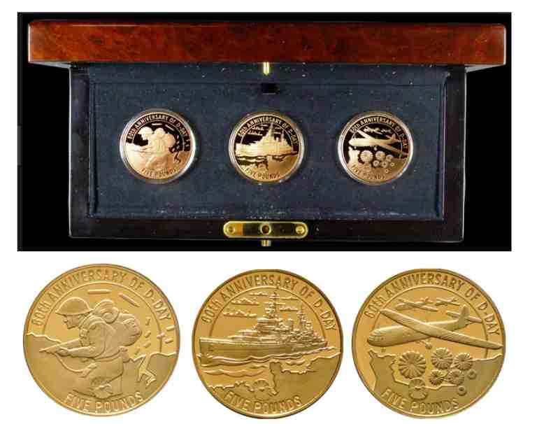 D-Day 60th Anniversary Gold Coin Set